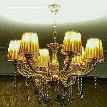 لوستر برنزی شکوه نور