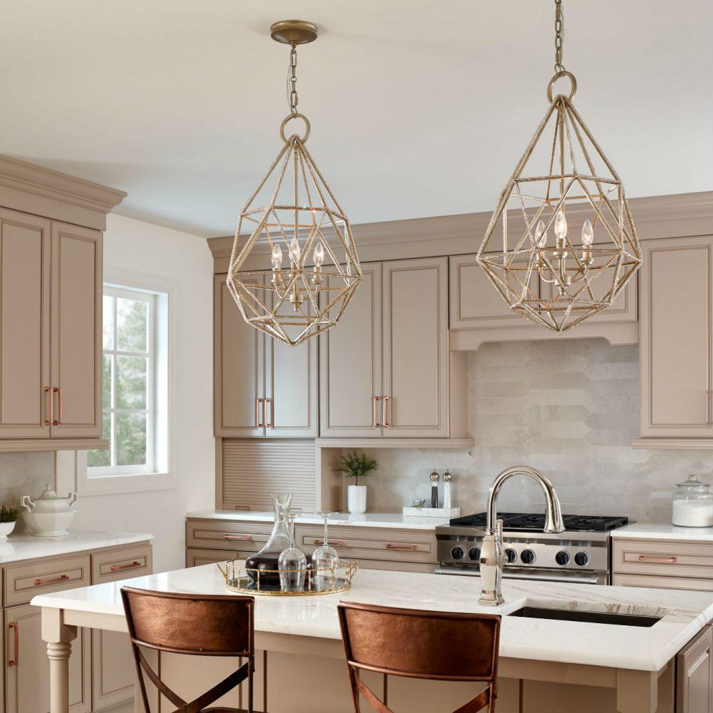 مدل لوستر آشپزخانه 1398 2019 شکوه نور